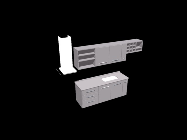 Planos de Mesada y muebles de cocina 3d, en Varios - Diseño urbano ...