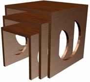 imagen Mesas auxiliares 3d - linea ferrini, en Salas de estar y tv - Muebles equipamiento