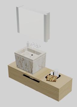 imagen Mobiliario de bano 3d, en Baños - Muebles equipamiento
