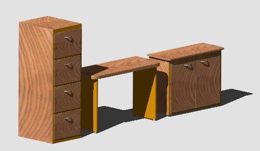 Planos de mobiliario oficina en oficinas y laboratorios for Muebles de oficina 3d autocad