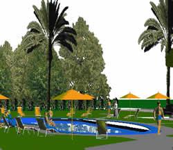 imagen Modelado proyecto recretivo, en Centros y parques recreativos - Proyectos