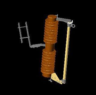 imagen Modelo 3d cortacircuitos fusible, en Tendidos electricidad - Infraestructura