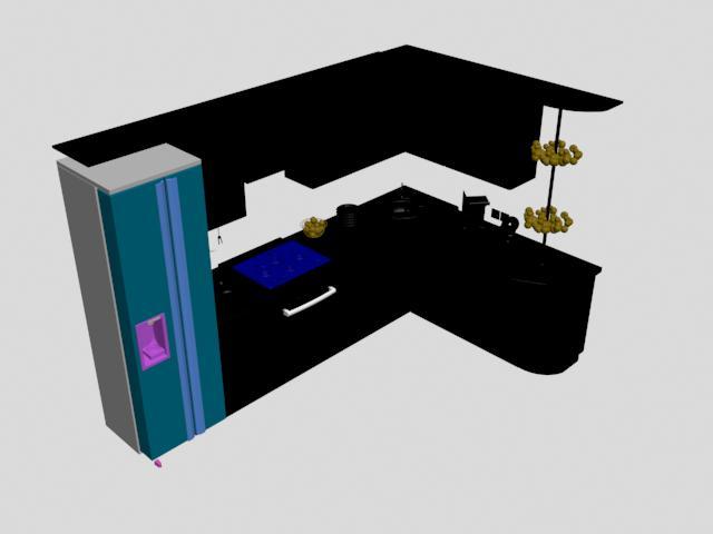 imagen Modelo de cocina en 3d, en Cocinas - Muebles equipamiento