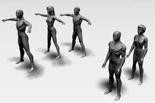 imagen Modelos 3d studio - gente, en 3d - Personas