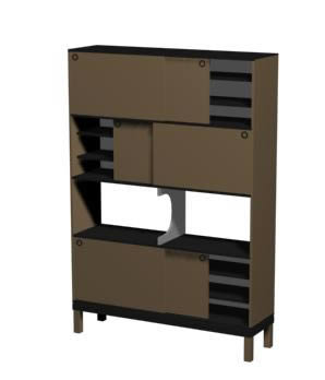 imagen Modular  3d, en Escritorios - Muebles equipamiento