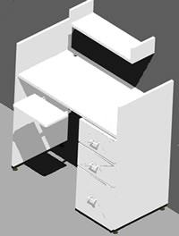 imagen Modulo individual de estudio, en Escritorios - Muebles equipamiento