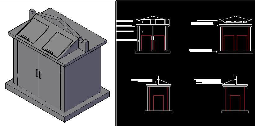 imagen Modulo para recoleccion de desechos