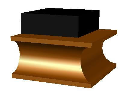 imagen Moldura 3d. mediacana o gorguera, en Molduras de madera - Detalles constructivos