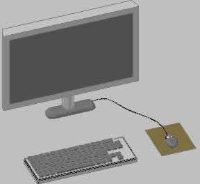 imagen Monitor; teclado y raton, en Escritorios - Muebles equipamiento