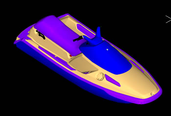imagen Moto acuatica 3d, en Embarcaciones - Medios de transporte