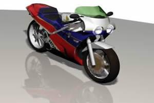 imagen Motocicleta 3d, en Motos y bicicletas - Medios de transporte