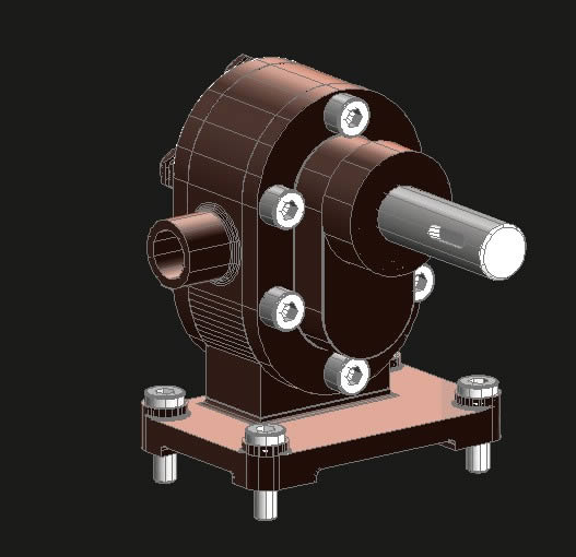 imagen Motor 3d, en Fuerza motriz - Electricidad iluminación