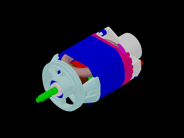 imagen Motor electrico 120v, en Componentes 3d - Electrónica