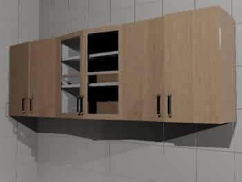 Mueble alto cocina 3d en cocinas muebles equipamiento for Mueble alto cocina