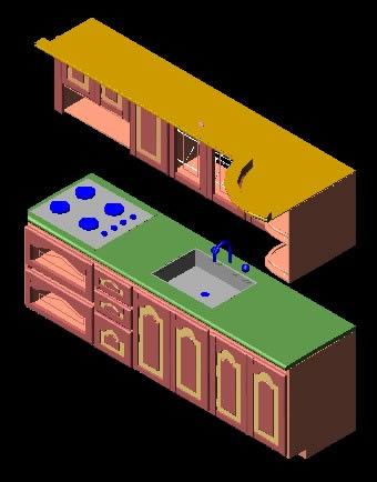 Planos de mueble de cocina 3d en cocinas muebles for Planos de muebles de cocina