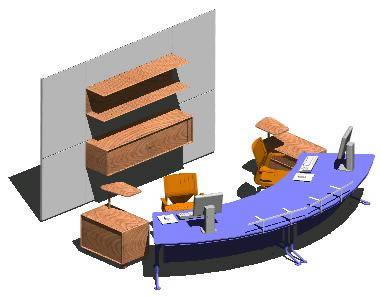 imagen Mueble en 3d para una recepcion, en Oficinas y laboratorios - Muebles equipamiento