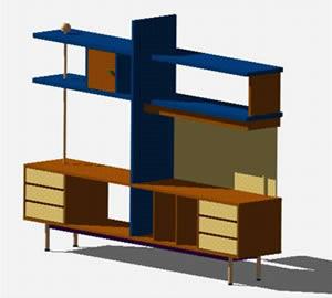 Planos de mueble multiuso modular estanteria 3d en - Muebles estanterias modulares ...