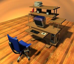 imagen Mueble para computadora, en Escritorios - Muebles equipamiento