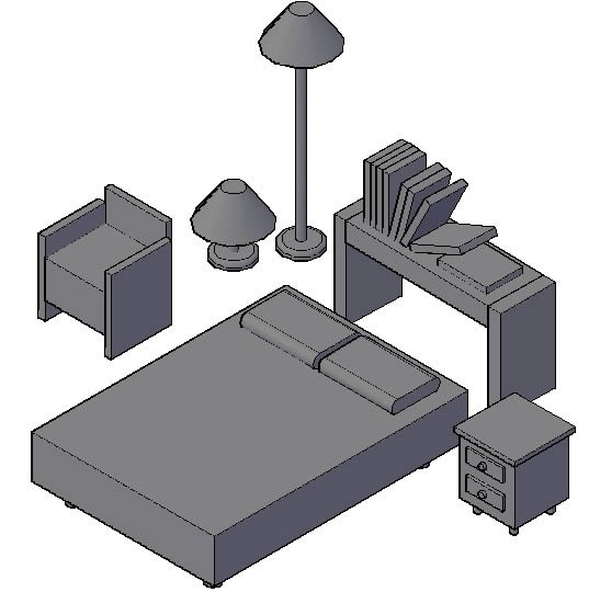 Planos de casas planos de construccion for Muebles 3d autocad