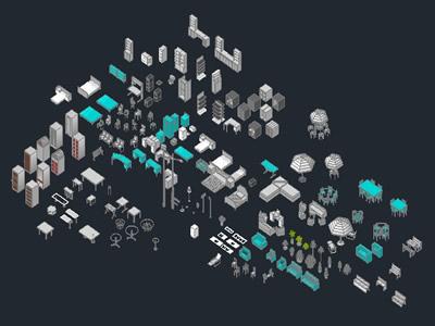 Planospara author at planos de casas planos de for Muebles de oficina en autocad 3d gratis