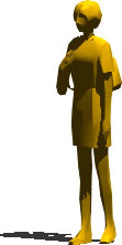 imagen Mujer caminando 3d, en 3d - Personas