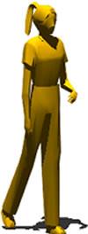 imagen Mujer caminando, en 3d - Personas