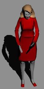 imagen Mujer parada, en 3d - Personas