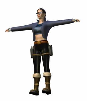 imagen Mujer rebelde  3d, en 3d - Personas
