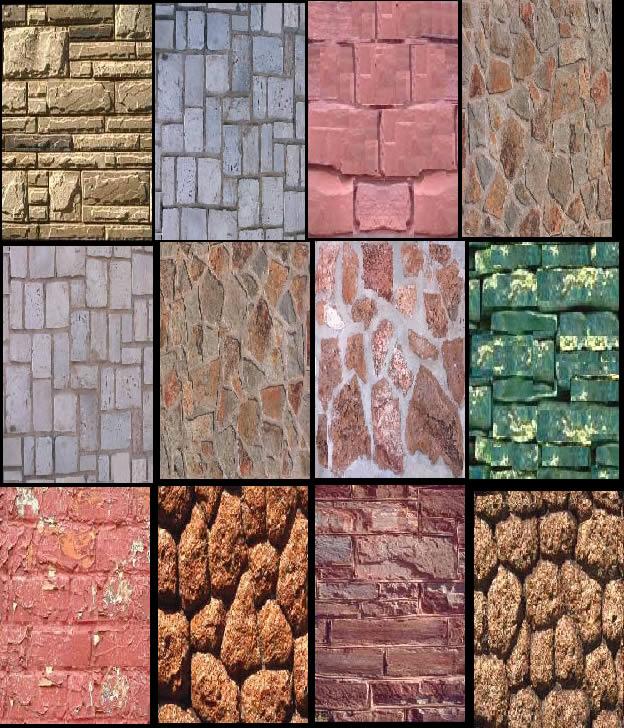 Muros de piedra en piedra texturas en planospara - Tipos de muros de piedra ...