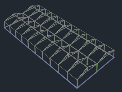 imagen Nave 20x50 - 3d, en Depósitos almacenes y bodegas - Proyectos