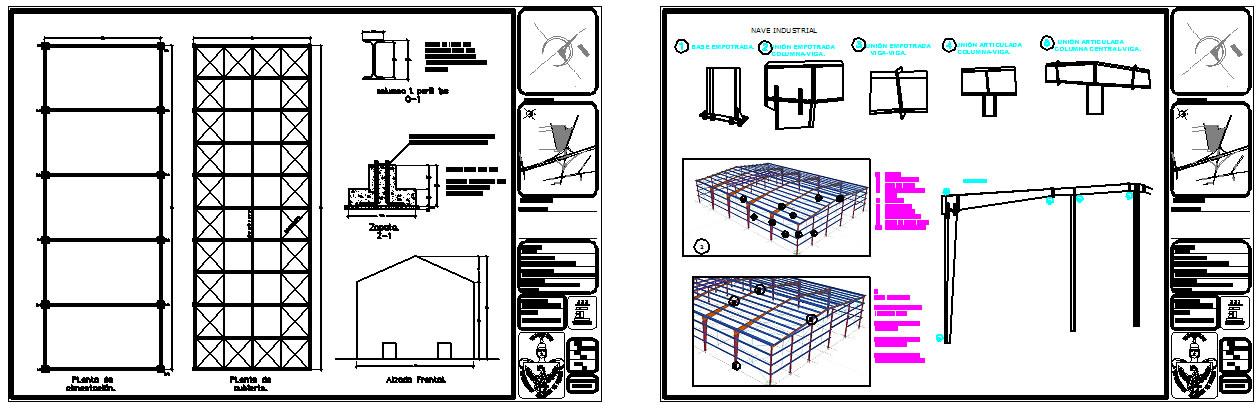 Estructuras de acero archives planos de casas planos for Planos de estructuras