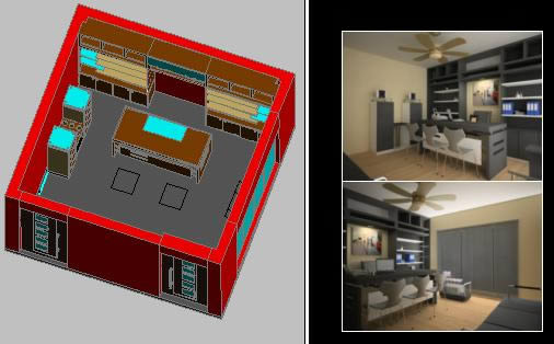 imagen Oficina 2d y3d, en Oficinas bancos y administración - Proyectos