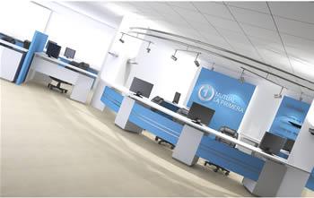 Oficinas 3d en oficinas bancos y administraci n for Bancos para oficina