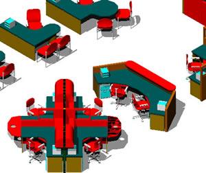 imagen Oficinas 3d, en Oficinas y laboratorios - Muebles equipamiento