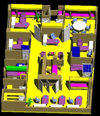 imagen Oficinas modular 3d, en Oficinas bancos y administración - Proyectos