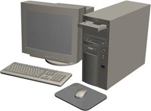 imagen Ordenador 3d, en Informática - Muebles equipamiento