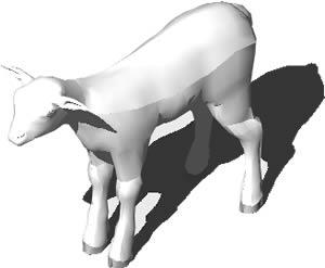 imagen Oveja 3d, en Animales 3d - Animales