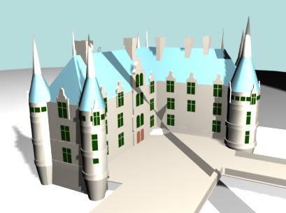 imagen Palacio 3d, en Residencias y palacetes - Historia