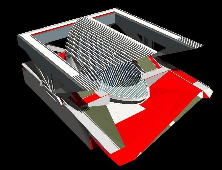 imagen Palacio de congresos de santiago calatrava 3d, en Obras famosas - Proyectos