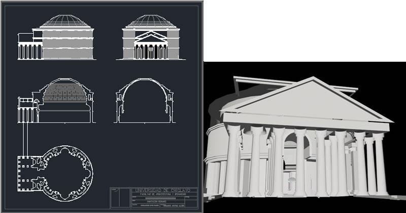 imagen Panteon romano, en Iglesias y templos - Historia