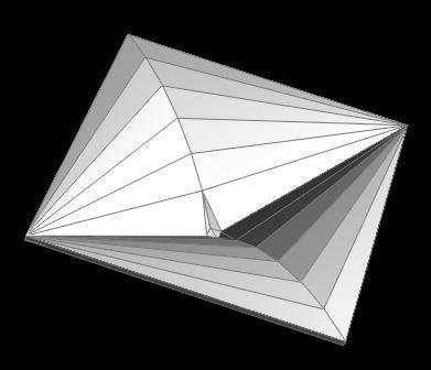 imagen Paraboloide hiperbolico, en Ejercicios varios - Dibujando con autocad