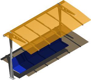 imagen Parador de autobus, en Transferencia peatón - vehículo paradores - Equipamiento urbano