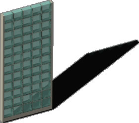 Planos de pared con bloques de vidrio en planospara - Pared de bloques de vidrio ...
