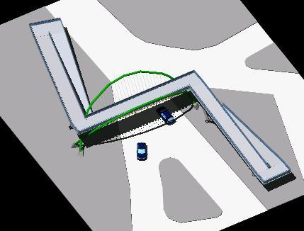 imagen Pasarela peatonal, en Puentes - Obras viales - diques