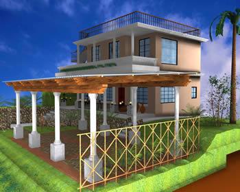 imagen Pergola de madera 3d, en Madera - técnica tradicional - Sistemas constructivos