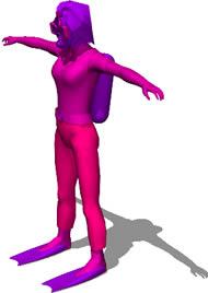 imagen Persona 3d - mujer buzo, en 3d - Personas