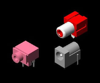 imagen Phone jack 3d, en Componentes 3d - Electrónica