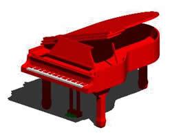 imagen Piano 3d, en Instrumentos musicales - Muebles equipamiento
