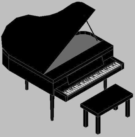 imagen Piano en 3d, en Instrumentos musicales - Muebles equipamiento