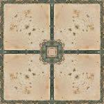 imagen Piso ceramico esmaltado rustico color natural y virola verde, en Pisos cerámicos - Texturas